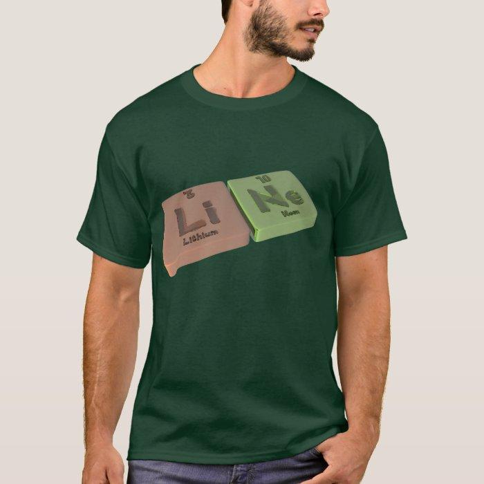 Line as Li Lithium and Ne Neon T-Shirt