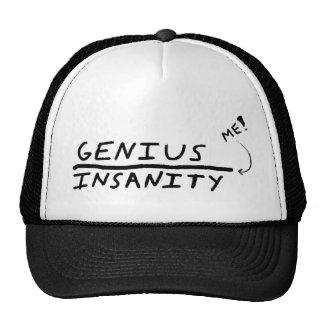 Line between Genius and Insanity Mesh Hats