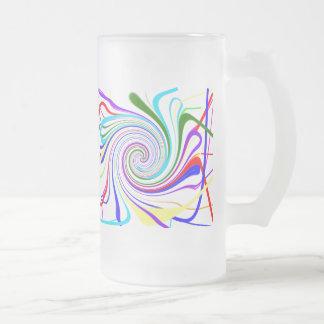 Line Bluge, Colorful Swirl - 11 oz. Frosted Mug! 16 Oz Frosted Glass Beer Mug