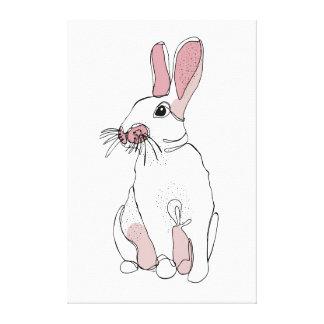 Line Bunny Canvas Print