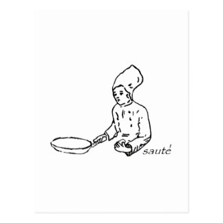 Line Cook Saute' Postcard