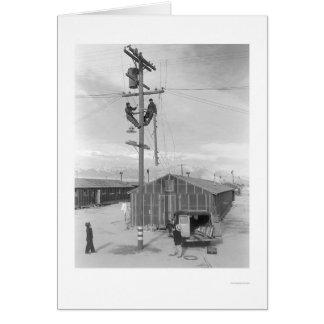 Line Crew at Work in Manzanar 1943 Card