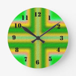 Line Cross pattern Clocks