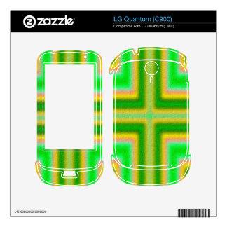 Line Cross pattern Skin For LG Quantum
