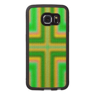 Line Cross pattern Wood Phone Case