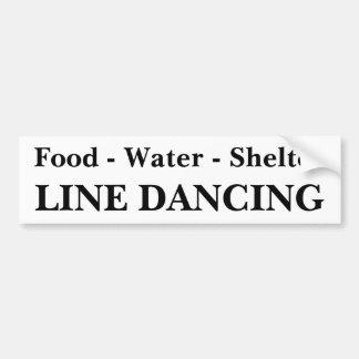 Line Dance Bumper Sticker Car Bumper Sticker
