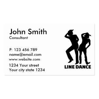 Line dance business card