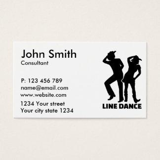 Line dance business card