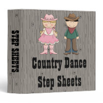 Line Dance Cowboy Cowgirl Binder