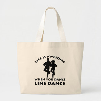 line dance design canvas bag