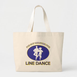 line dance design tote bags