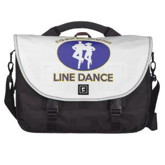 line dance design laptop messenger bag