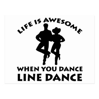 line dance design postcard
