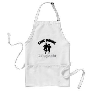 Line dance designs adult apron