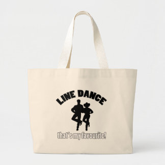 Line dance designs canvas bags