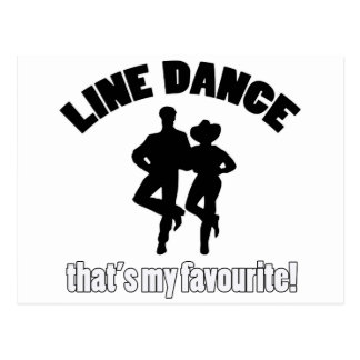 Line dance designs postcard