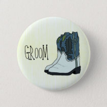 Line Dance Groom's Button Country Western Wedding
