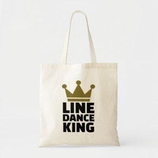 Line dance king tote bag