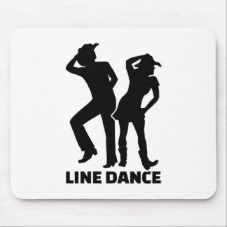 Line dance mouse pad