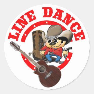 Line Dance pegatina Roy pequeña