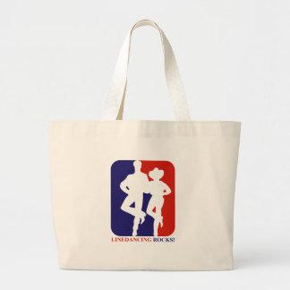Line dance rocks designs tote bags
