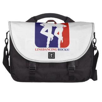 Line dance rocks designs laptop commuter bag