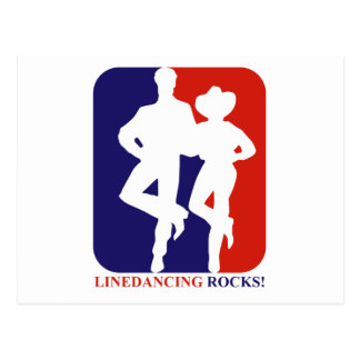 Line dance rocks designs postcard