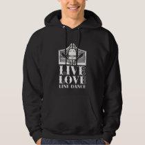 Line Dance Western Hat Country Line Dancing Love Hoodie