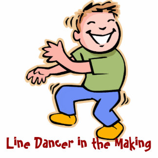 Line Dancer in the Making! (Boy) Acrylic Cut Outs