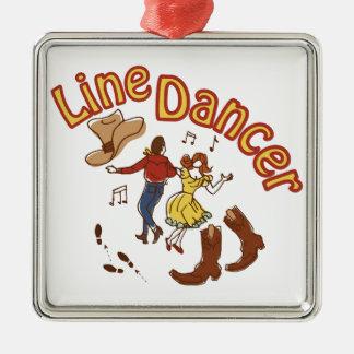 Line Dancer Metal Ornament