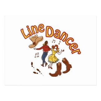 Line Dancer Postcard