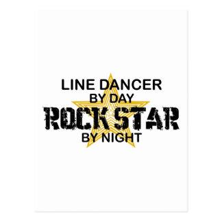 Line Dancer Rock Star by Night Postcard