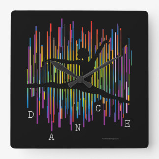 Line Dancer (v1) Square Wall Clock