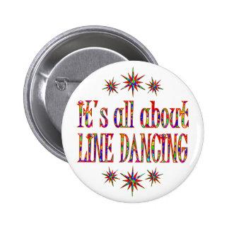 LINE DANCING 2 INCH ROUND BUTTON