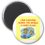line dancing 2 inch round magnet