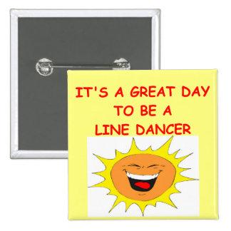 LINE dancing 2 Inch Square Button