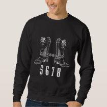 Line Dancing Beat Cowboy Hat Western Boots Love Sweatshirt
