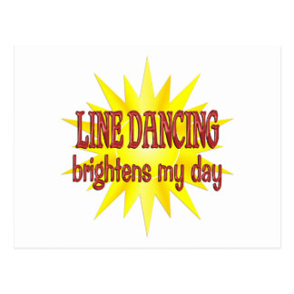 Line Dancing Brightens My Day Postcard