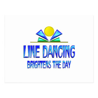 Line Dancing Brightens the Day Postcard