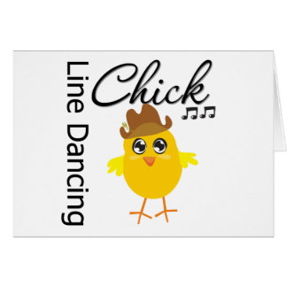 Line Dancing Chick Greeting Card