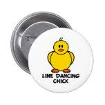 Line Dancing Chick Pinback Button