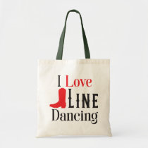 Line Dancing Cowboy Boots Cowgirl Country Music Tote Bag