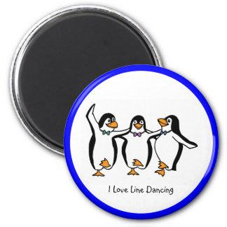 Line Dancing: Dancing penguins Fridge Magnet
