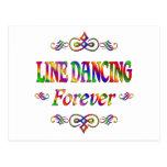LINE DANCING FOREVER POSTCARD
