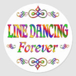 LINE DANCING FOREVER ROUND STICKER