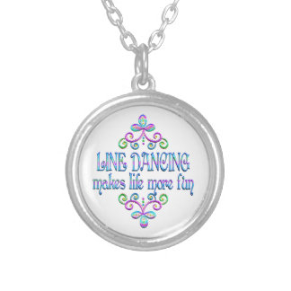 Line Dancing Fun Silver Plated Necklace