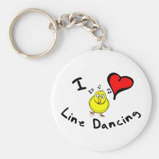 Line Dancing Gift Items - I Heart Line Dancing Keychain