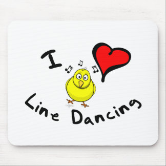 Line Dancing Gift Items - I Heart Line Dancing Mouse Pad