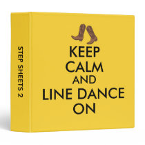 Line Dancing Gift Keep Calm Dancer Cowboy Boots Binder