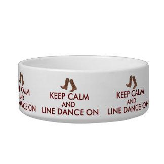 Line Dancing Gift Keep Calm Dancer Cowboy Boots Bowl
